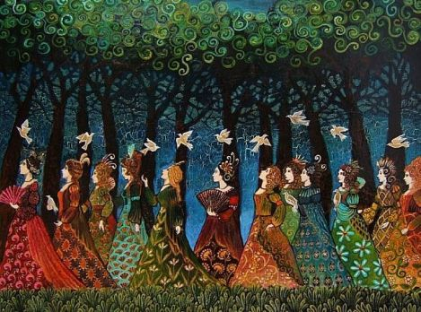 Twelve-Women-with-Birds
